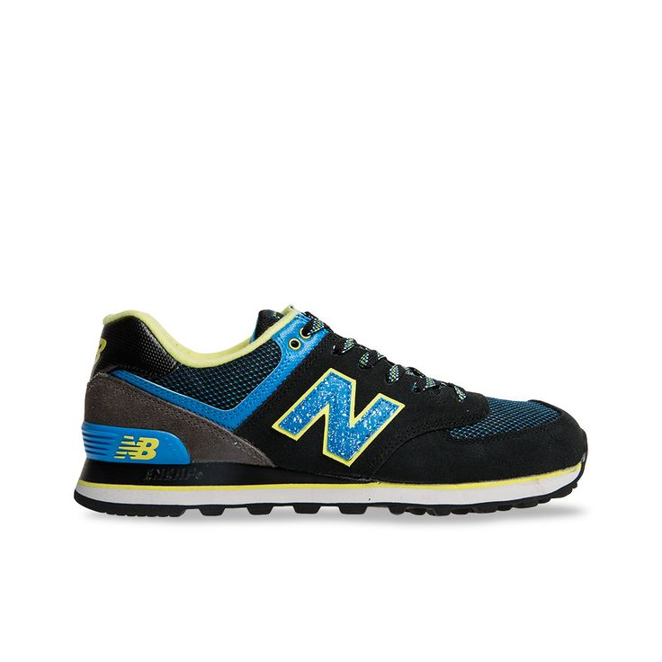 New Balance Mens 574 Outside In Collection - Black | Platypus Shoes