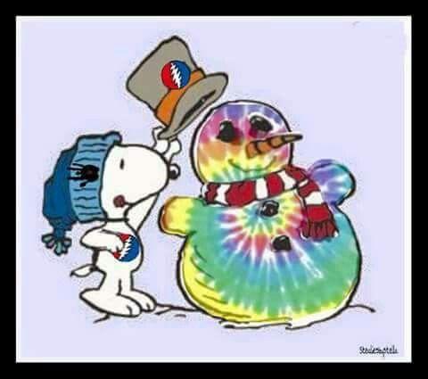 Peanuts Snoopy ☃ Grateful Dead