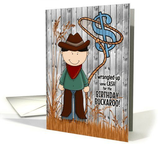 Birthday Card for a Little Cowboy with a fun Western Theme