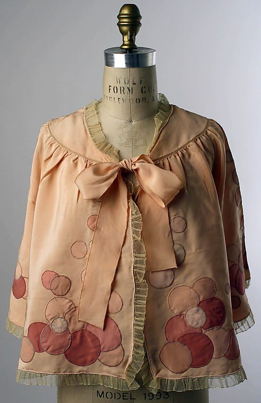 1939-59 silk and cotton Bed Jacket