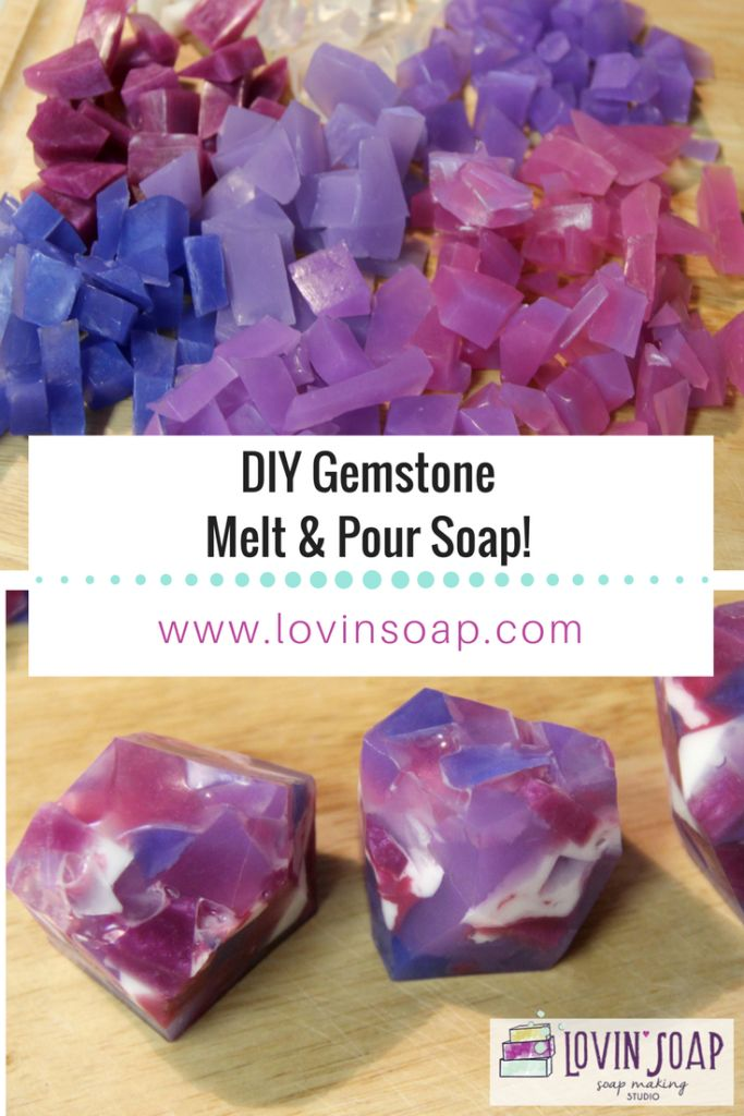 DIY gemstone melt and pour soap   – Soap Making Recipes & Tutorials