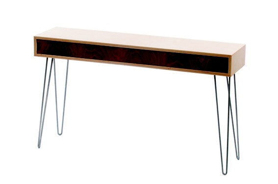 #DIY Mid-Century Modern Console Table -- full instructions!