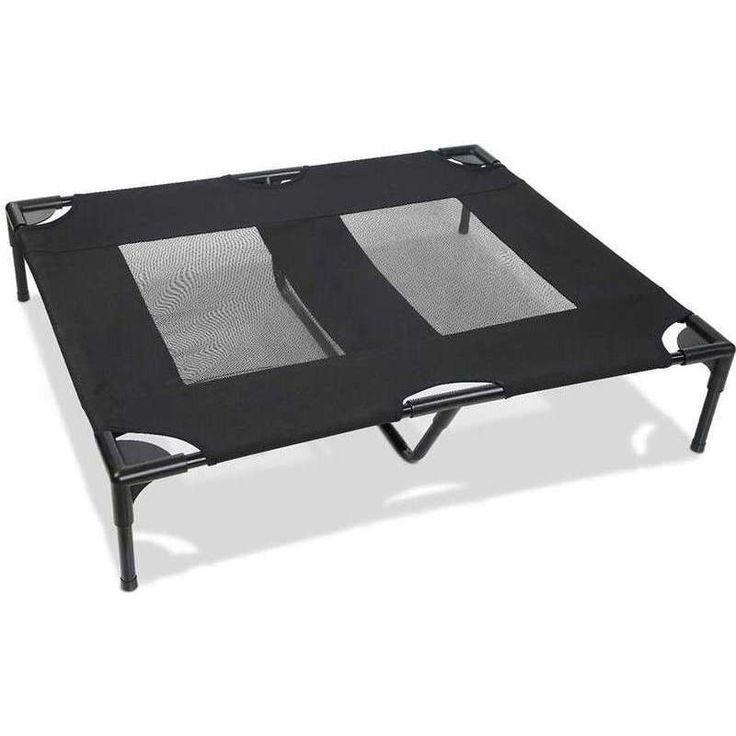 Large Fabric & Mesh Pet Dog Trampoline Bed in Black | Buy Trampoline Beds