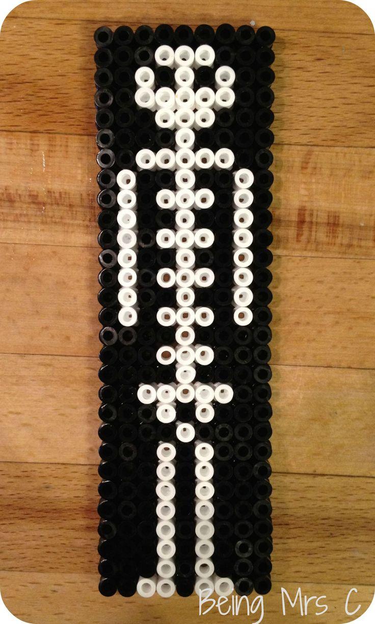 Skeleton Halloween Hama beads by Being Mrs C