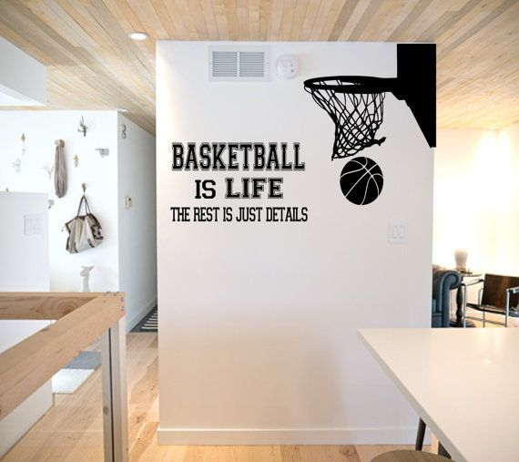 Basketball is Life Wall Decal basketball wall by SportsVinyl