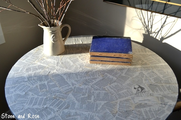 Book page tabletop. ~ Mod Podge Rocks!Crafts Ideas, Podge Book, Crafty, Mod Podge, Tabletop, Tables Tops, Book Pages, Modpodge, Diy Projects
