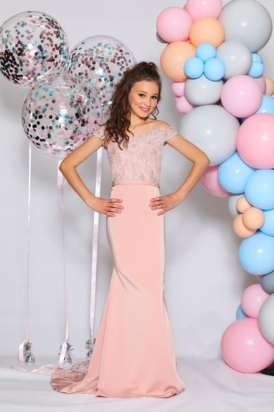 576b9bfecc0 Buy Authentic Jadore Junior Girls JR04 Dusty Pink Lace Mermaid Dress  Collection online at One Honey