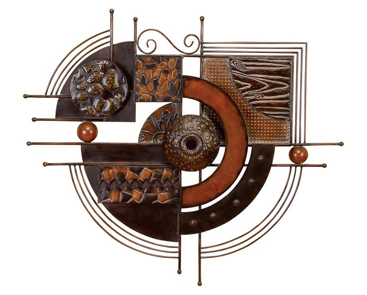 Aurelle metal ring wall decor