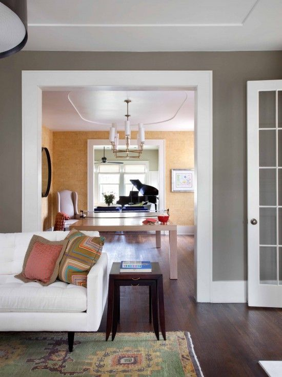 Wide Floor And Door Trim Design, Pictures, Remodel, Decor and Ideas - page 4; love that gray with white trim again