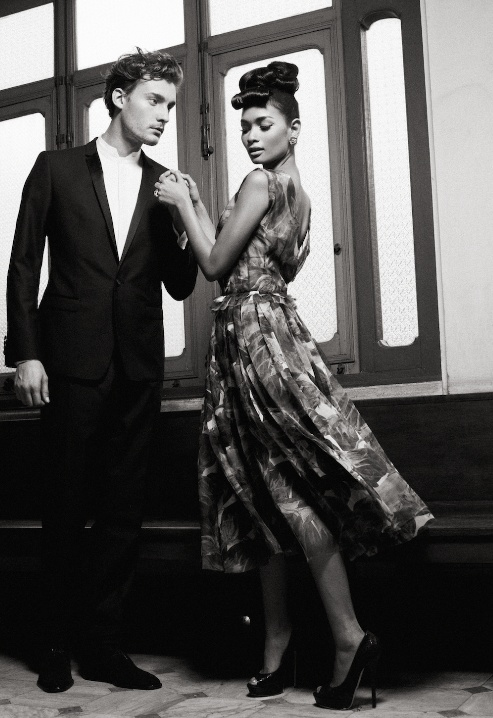 HER Silk chiffon dress: #Dolce Peep-toe pumps: #JimmyChoo; Earrings: Matina Amanita. #fashion #style #photography #bangkok #couture