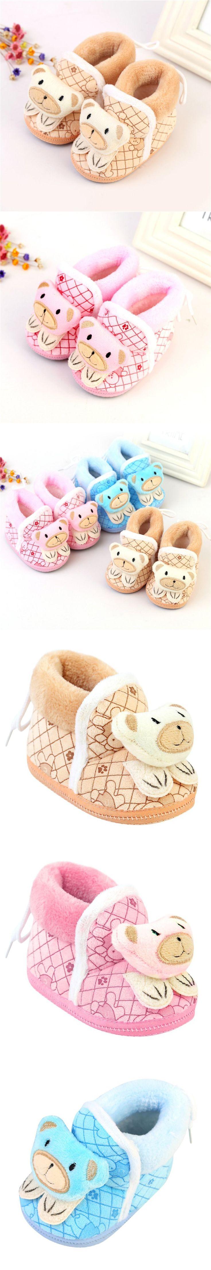 Cute Baby Girls Shoes Soft Bottom Flats Soft Slippers Shoes Prewalker $2.49