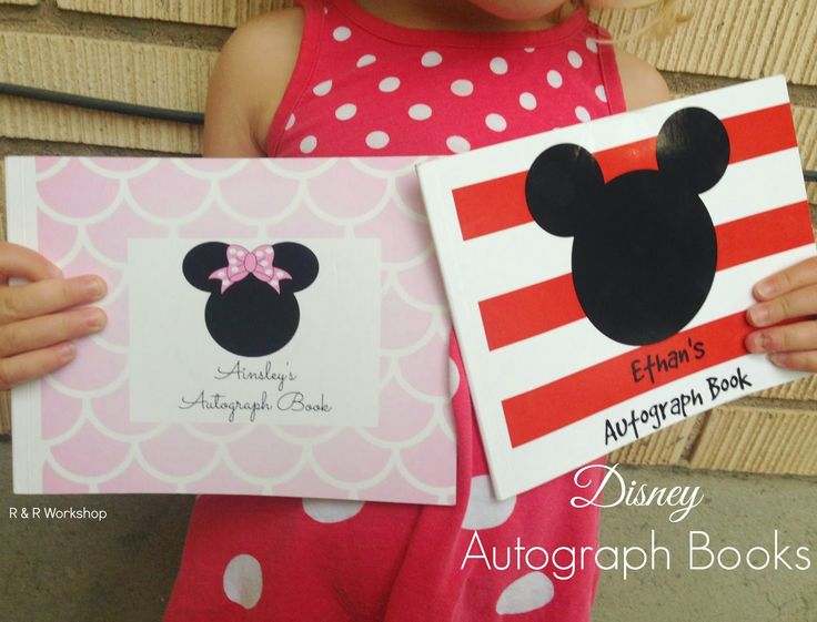 "Create a Disney autograph book for the kids to take to the ""Happiest Place on Earth"". Feature fun Disney quotes and more."