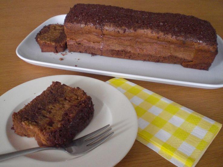 Chocolade advocaat cake