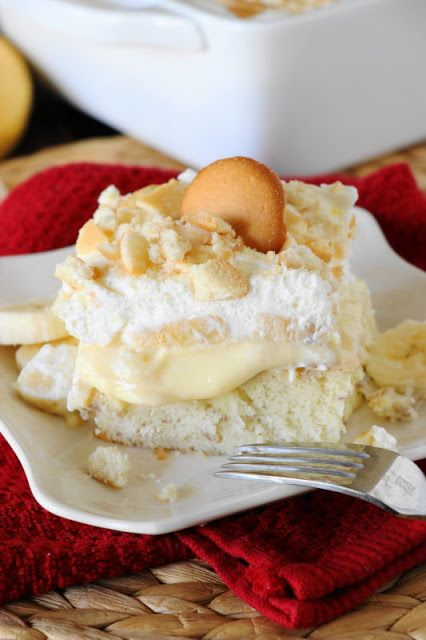 Banana Pudding Cake combines the traditional flavors of banana pudding with the classic poke cake method. And will have you going back for seconds ... and even thirds!