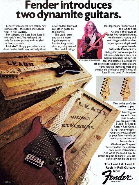 Fender Lead Guitar Ad