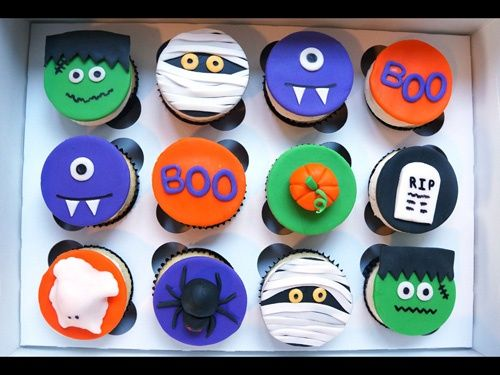 7 best Halloween images on Pinterest Artistic make up, Fondant cat - how to decorate cupcakes for halloween