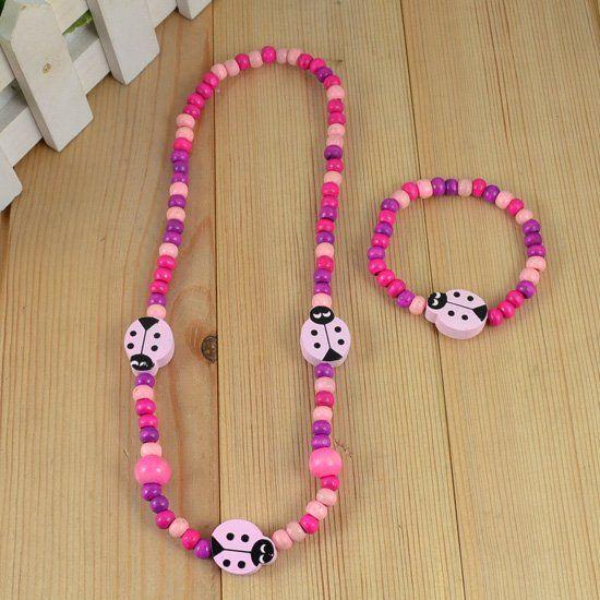 Young  handmade jewelry !children/kid jewelry set Beetle necklace bracelet/bangle Fashion jewelry  0 CS11