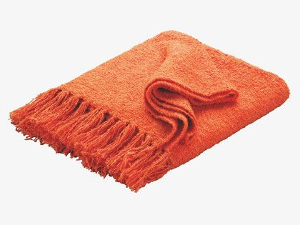 HADEN Acrylic Orange/red throw - HabitatUK