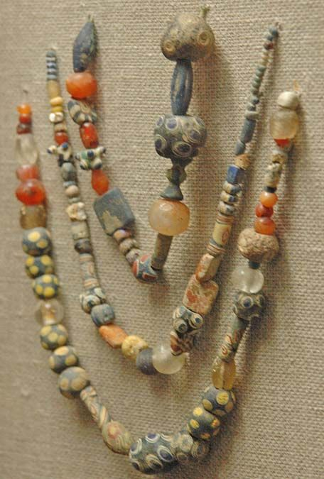 Glass beads. State Historic Museum, Moscow.  From Mike Poole's (Tillerman's Beads) board.