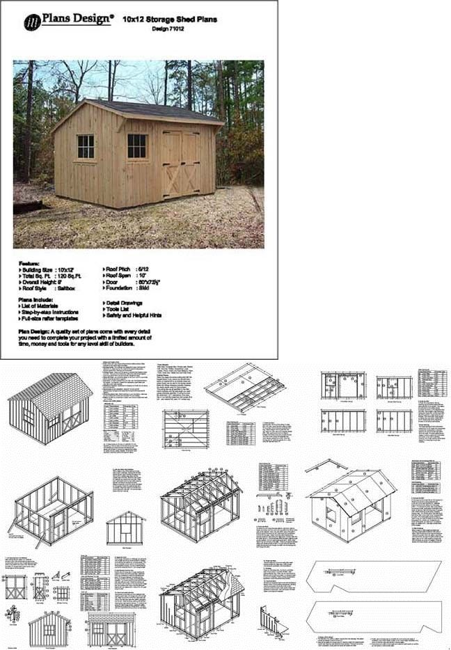 10 X 12 Saltbox Style Storage Shed Project Plans Design 71012 753182758510 Ebay Shed Plans How To Plan Storage Shed