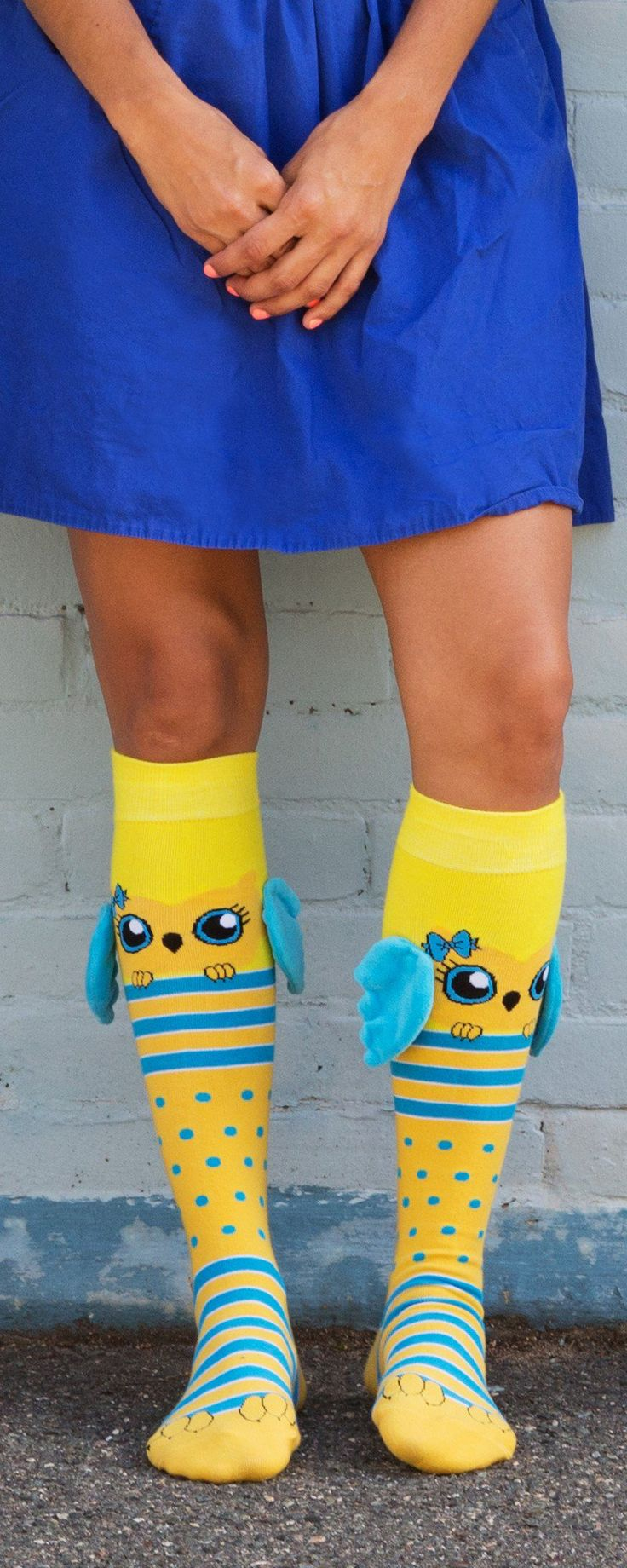 MooshWalks' animal socks with ears, discovered by The Grommet, have wings and ears that flap as you walk. Add colorful personality to your look