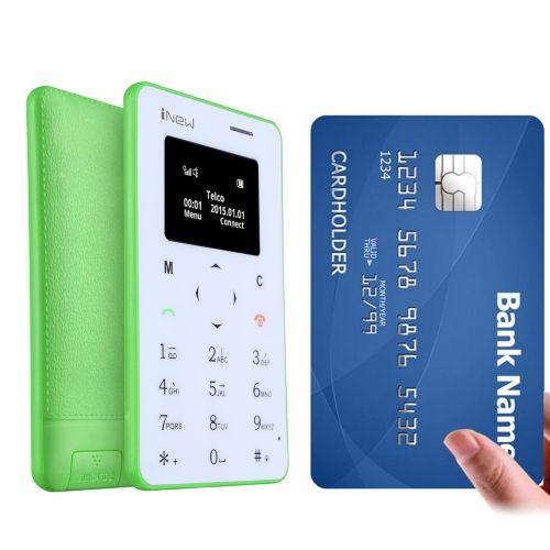 [$16.80] iNew Mini 1 0.96 inch Single Micro SIM Keyboard Card Mobile Phone, Support Bluetooth, GSM(Green)