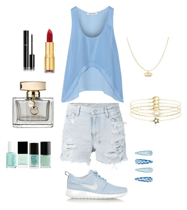 AM #12 by laska800 on Polyvore featuring moda, Elizabeth and James, Ksubi, NIKE, Accessorize, Isaac Mizrahi, Gucci and Chanel