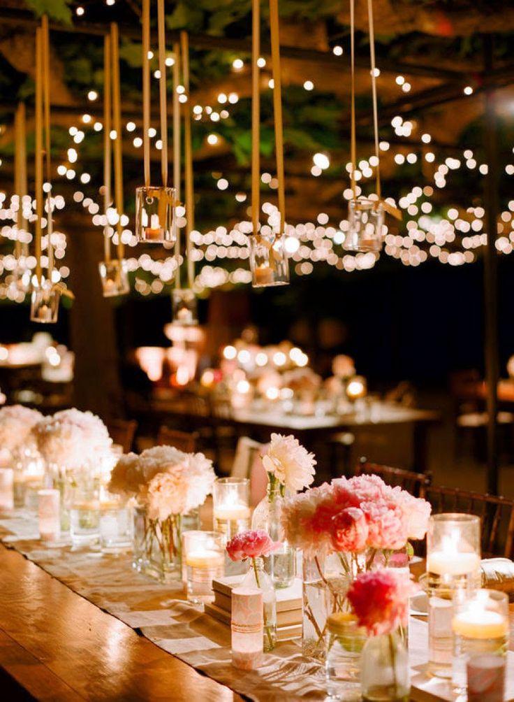 Decoração De Casamento E Festas Com Luzinhas Ou Cortina De LED   As Famosas  Luzes De Decoração De Natal. Fairy LightsWeddingideasOutdoor WeddingsOutdoor  ...