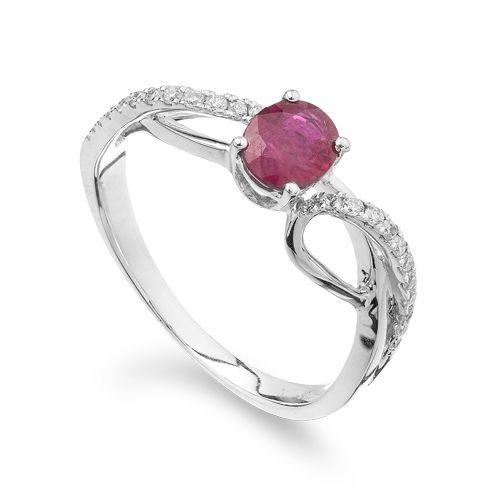 Coriolan - Inel cu rubin si diamante C624
