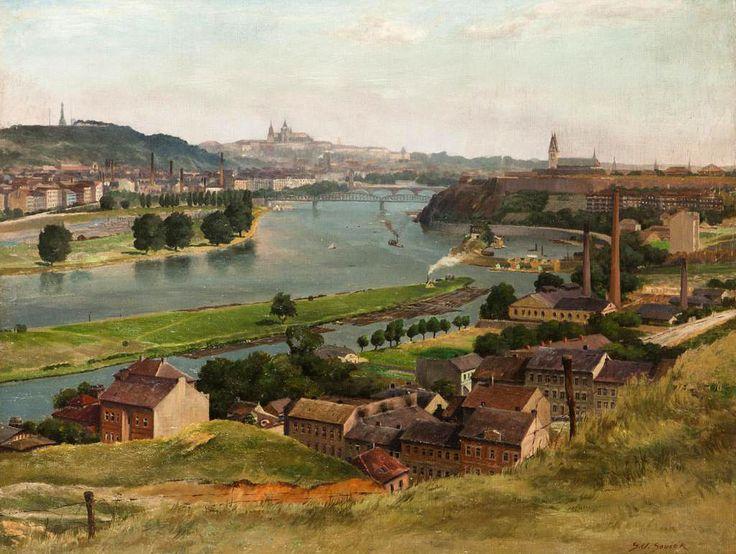 Svatopluk Souček - Pohled na Prahu z Kavčích hor