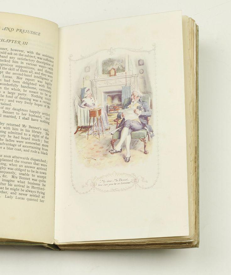 CE Brock Illustration Pride And PrejudiceJane Austen