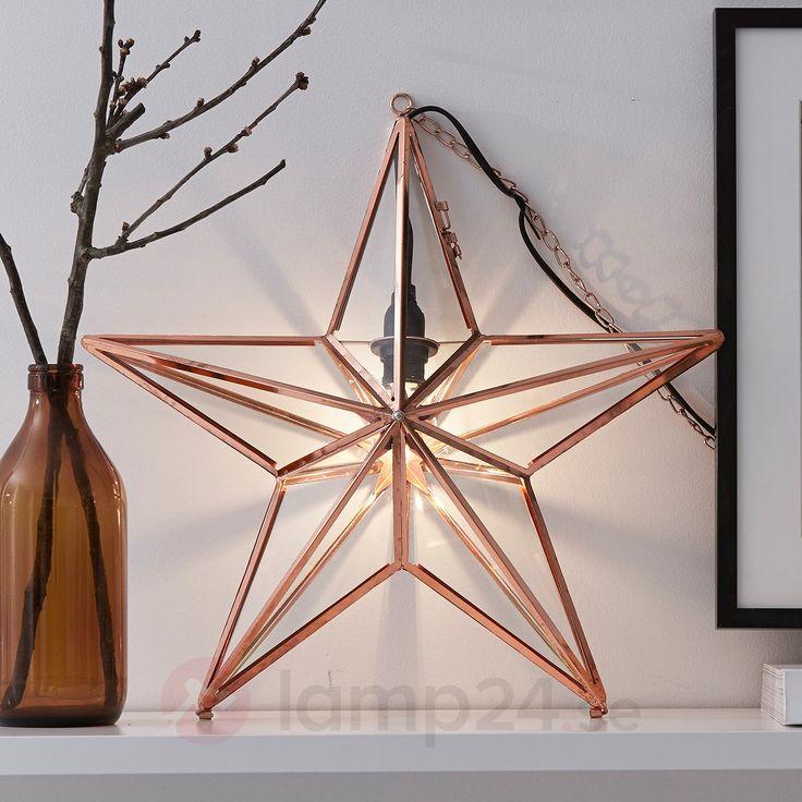 Dekorsstjärna koppar och glas <3