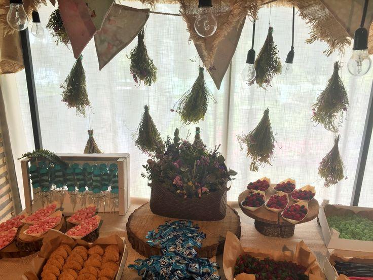 Candybar de la boda de Ana y Rafa, celebrada en La Alquería