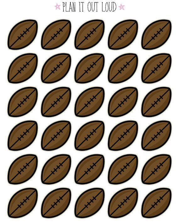 Football Stickers Erin Condren planner stickers by PlanItOutLoud