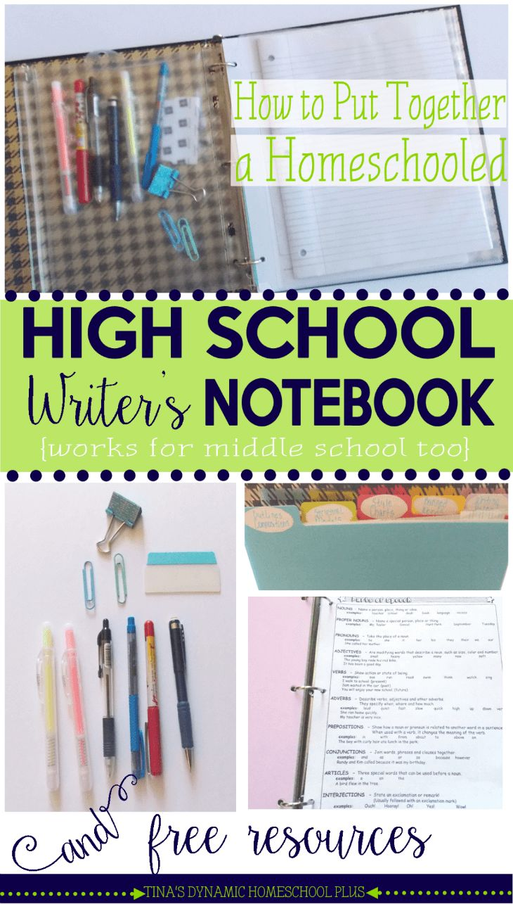 How to Put Together a Homeschooled High School Writer's Notebook and Free Resources
