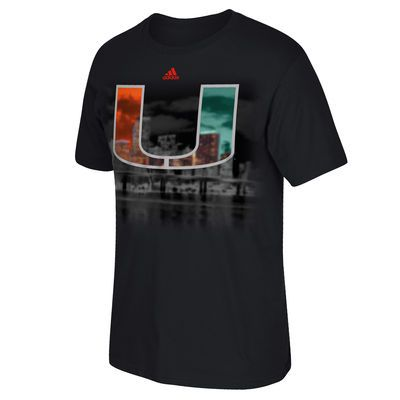 Men's adidas Black Miami Hurricanes Dark Ops Big Town T-Shirt