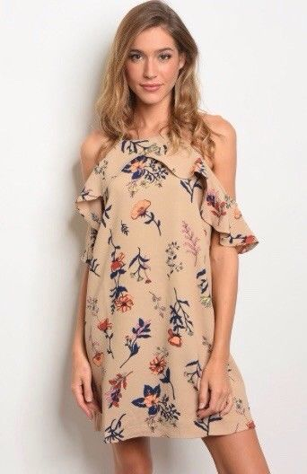 508a51b2ca57 Women s Taupe Floral Dress. Size Extra Small. People are free ...