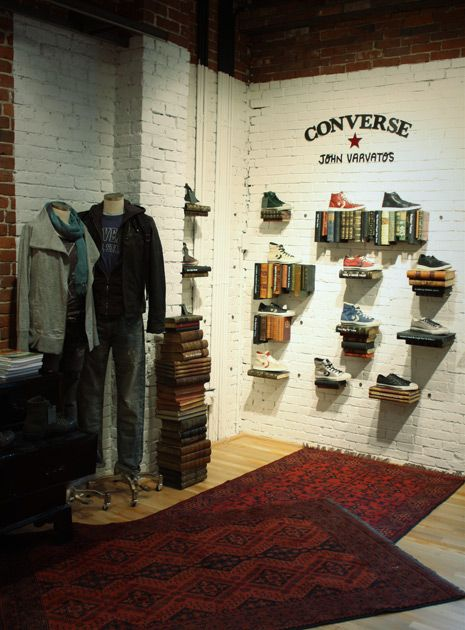 D Exhibition Booth : Via checkland kindleysides converse speciality store
