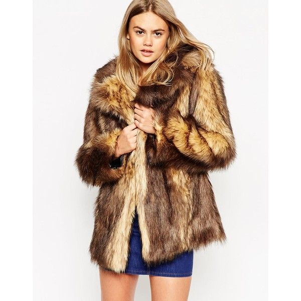 Best 25  Brown faux fur coat ideas on Pinterest | Faux fur ...