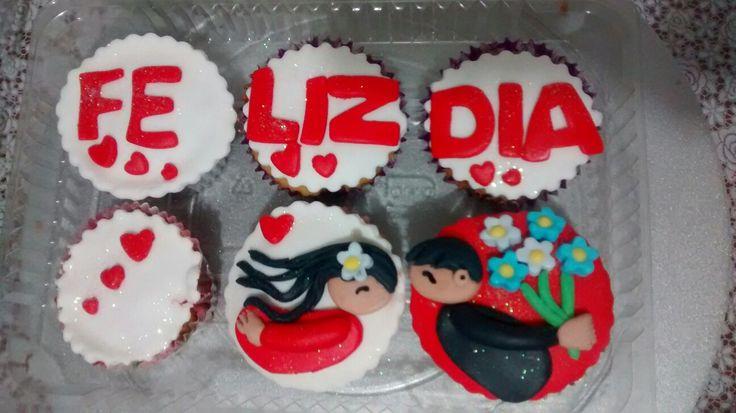 Cupcakes decorados San valentin