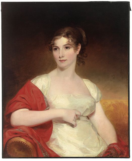 Mrs. William Chamberlain (Cornelia Mitchell of Virginia) by Sully, Thomas, American (1783-1872). Painted in 1810. Mead Art Museum at Amherst College (AC 1945.136)