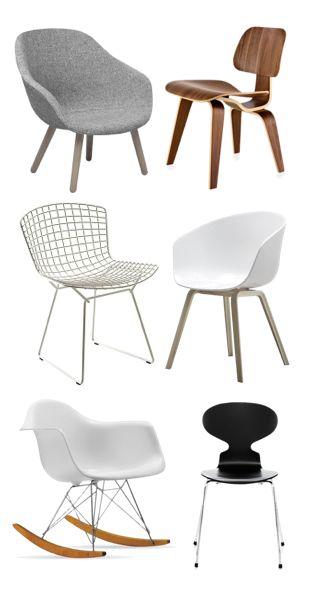 Via Flor | HAY | Eames | Bertoia | Arne Jacobsen | Chairs. Design classics!!