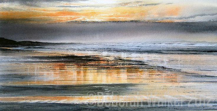 """""""Sunset; Towards Lindisfarne"""" by Deborah Walker, 2012"""