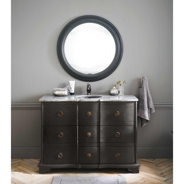 Badezimmer Unterschrank Waschbecken Schwarz