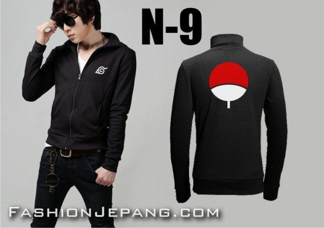 Jaket Anime Naruto N-9, material poly adidas best quality