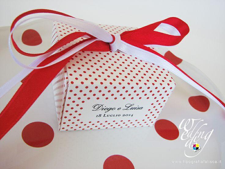 Scrigno portaconfetti Elegant Red