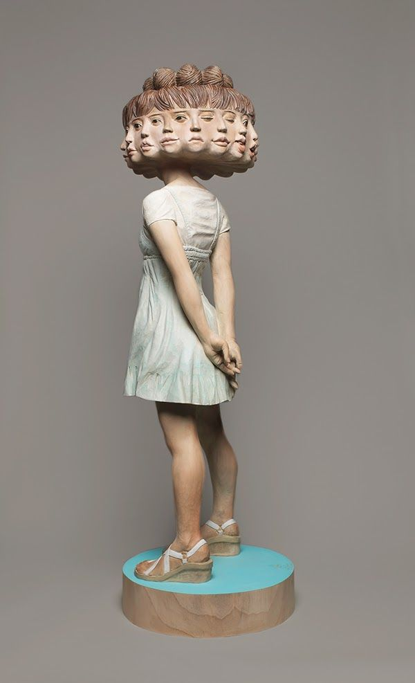 The Best Wooden Sculptures Ideas On Pinterest Wood Sculpture - Taiwanese artist creates wooden sculptures that look like digital glitches