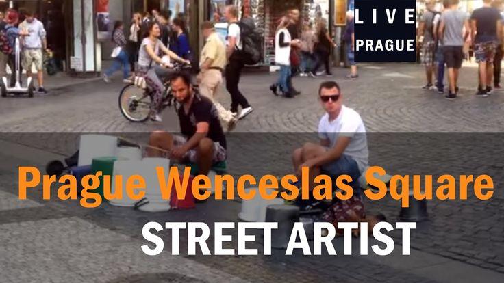 Street Artist Prague - 04-09-2015 Drum tank - Batteria Acustic Drum craf...