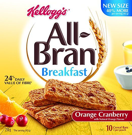 Kellogg's All Bran Cranberry Citrus Bars 210g