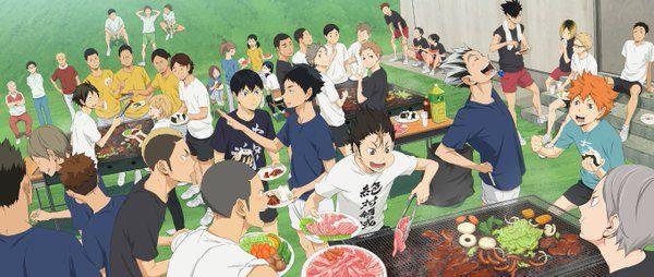 """アニメ「ハイキュー!!」 en Twitter: """"【Blu-ray&DVD】Amazon全巻購入特典「描き下ろし全巻収納BOX」ビジュアルが完成!肉が超美味しそうですね…各キャラの表情にもご注目下さい!!ほか特典は#hq_anime"""